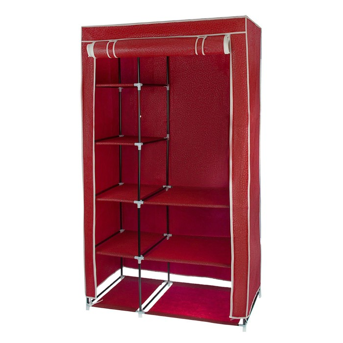 Шкаф для одежды 100х50х170 см, цвет красный