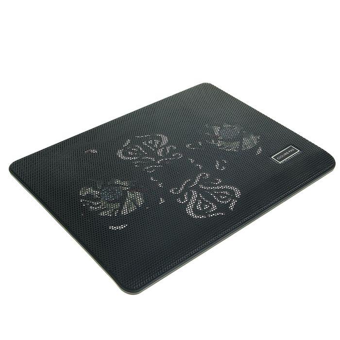 Подставка для охлаждения ноутбука LuazON с LED, 2 кулера, провод 40 см, черная