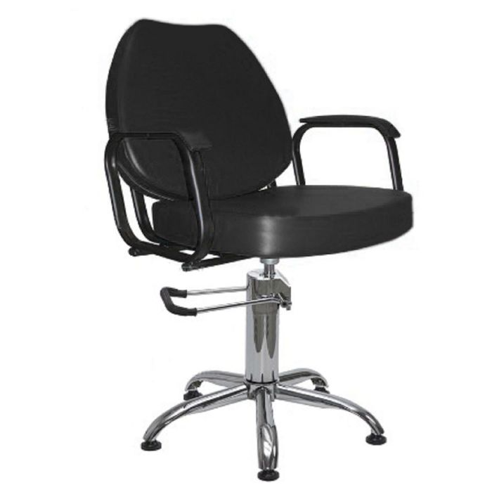 """Парикмахерское кресло """"Соло"""", гидравлический подъемник, пятилучье хром, цвет чёрный"""
