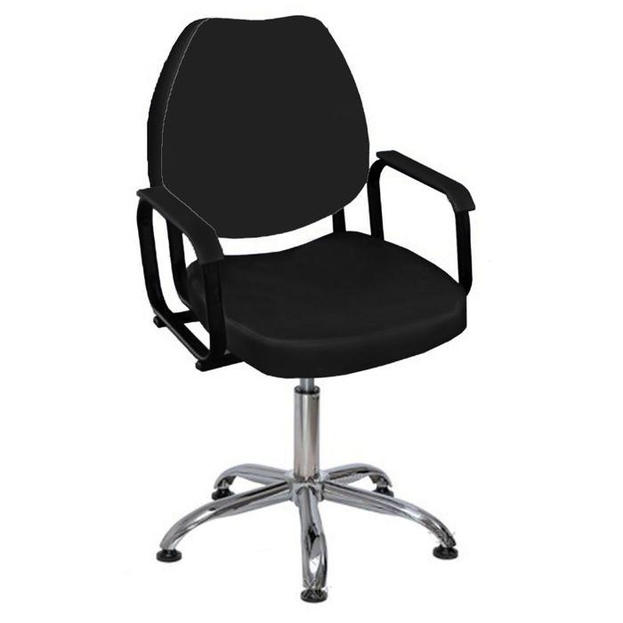 """Парикмахерское кресло """"Соло"""", пневматический подъемник, пятилучье хром, цвет чёрный"""