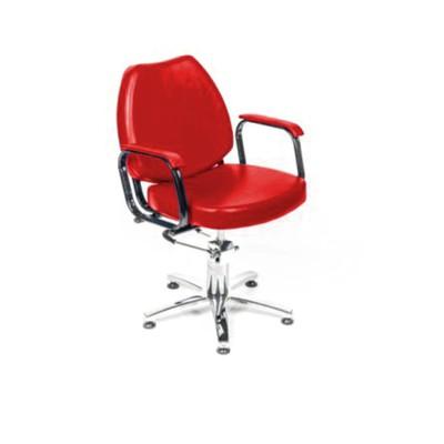 """Парикмахерское кресло """"Соло гидравлика"""", 60*65 см, пятилучье хром, цвет красный"""