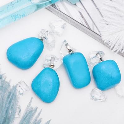 Pendant tumbling Turquoise size MIX