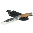 """Нож нескладной """"Сафари"""" с мельхиоровыми гардами, рукоять-орех, сталь 65Х13"""