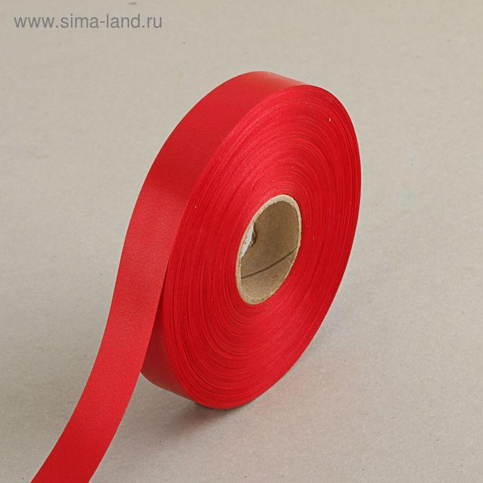 Лента для декора и подарков красная, 2 см х 91 м