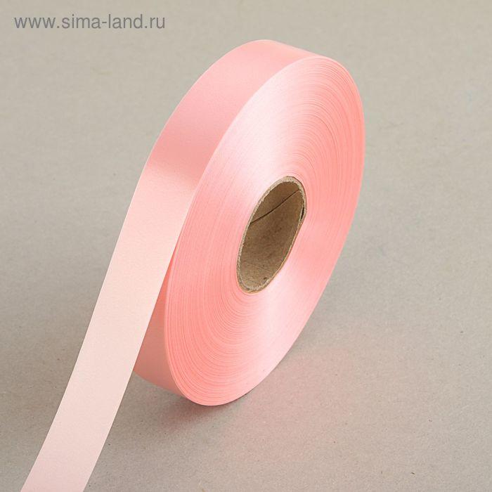 Лента для декора и подарков светло-розовая, 2 см х 91 м