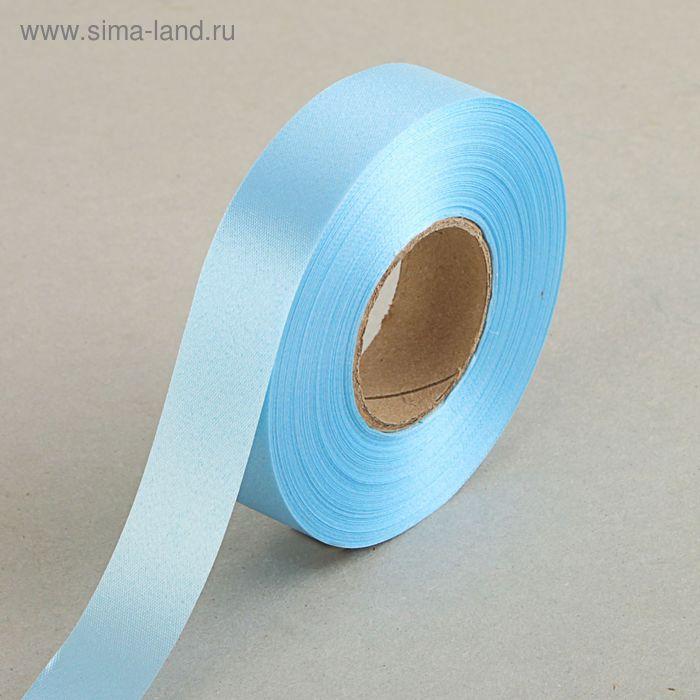 Лента для декора и подарков, голубая, 2 см х 45 м