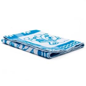 Одеяло байковое детское хлопчатобумажное 'Ермошка', цвет голубой, жаккард, размер 118х100 см, 470 г/м2, принт микс Ош