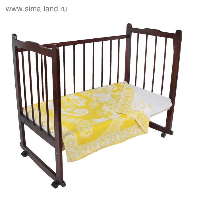 """Одеяло байковое детское хлопчатобумажное """"Ермошка"""", цвет жёлтый, жаккард, размер 118х100 см, 470 г/м2, принт микс"""