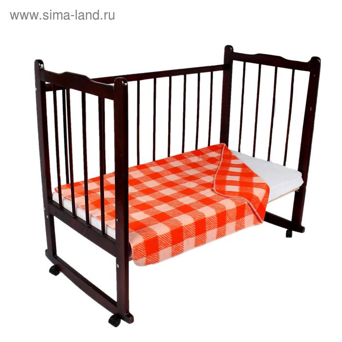 """Одеяло байковое детское хлопчатобумажное """"Ермошка"""", цвет красный, клетка, размер 140х100 см, 470 г/м2, принт микс"""