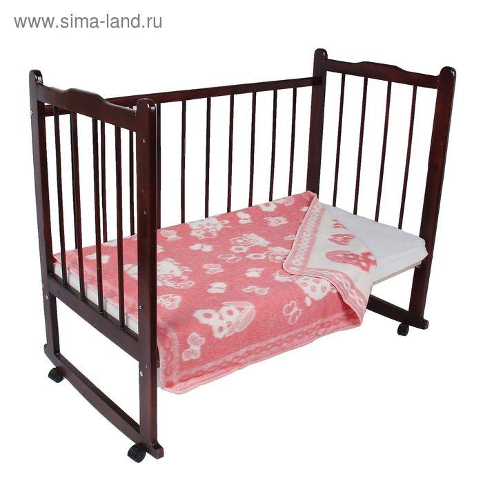 """Одеяло байковое детское хлопчатобумажное """"Ермошка"""", цвет розовый, жаккард, размер 140х100 см, 470 г/м2, принт микс"""