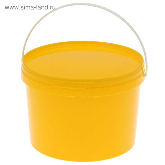 Ведро 3,25 л с крышкой, цвет желтый