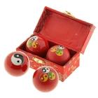"""Поющие шары Баодинга (шары здоровья) (набор 2шт) d=4 см """"Инь и Ян"""", цвета МИКС"""