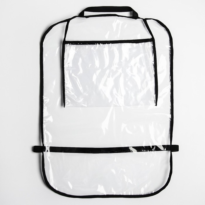 Органайзер-незапинайка на спинку сиденья, с карманом для планшета, цвета МИКС