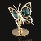 Сувенир «Бабочка», на подставке, с кристаллами Сваровски, 6 см