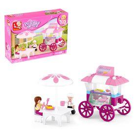 Конструктор «Розовая мечта: закусочная на колёсах», 78 деталей