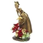 """Статуэтка """"Маленькая садовница с хрустальными цветами"""" RLM"""