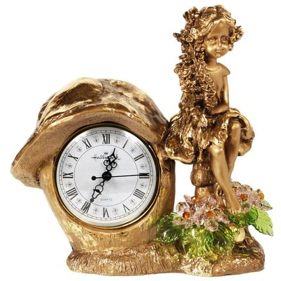 "Часы ""Лесная фея"", с хрустальными цветами, 6016 ROS"