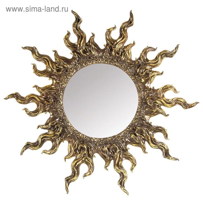 """Зеркало """"Солнце"""" золото"""
