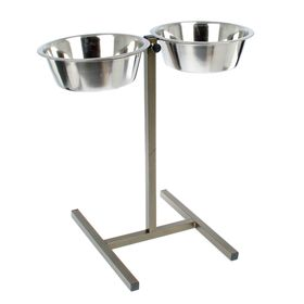 Floor stand with 2 bowls in 5 years, height 15-65 cm, bronze