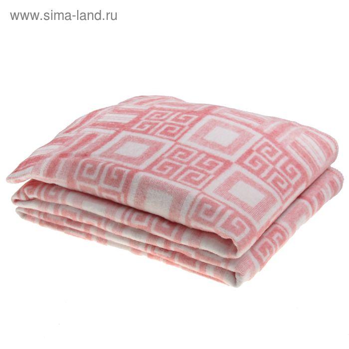 Одеяло байковое, цвет розовый, жаккард, размер 212х150 см, 470 г/м2, принт микс