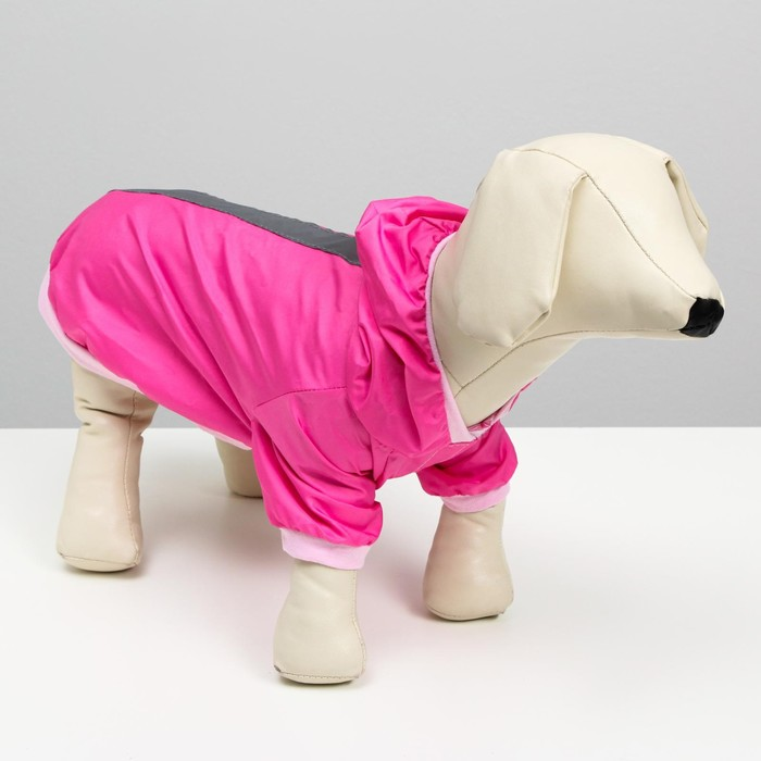 Куртка-ветровка со светоотражающими полосками, размер XL, розовая