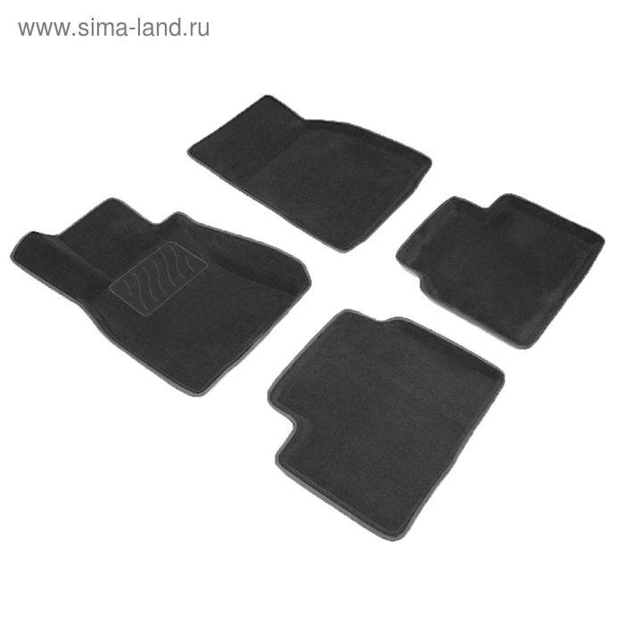 Коврик ворсовый для Hyundai Elantra, 2011-, Черный