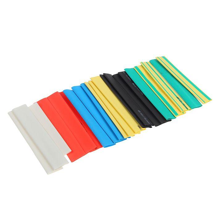 Термоусаживаемая трубка TDM, 12/6, 100 мм, набор из 7 цветов по 3 шт