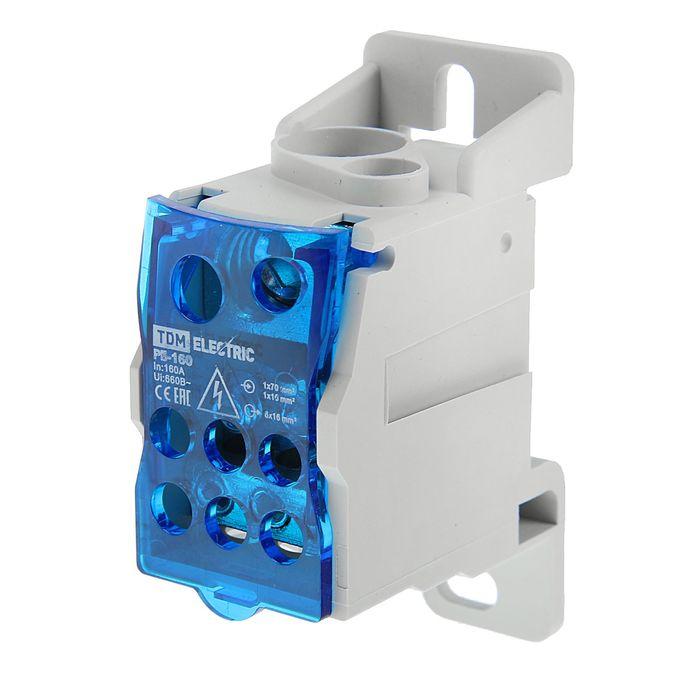 Распределительный блок на DIN-рейку TDM РБ-160, 1 П, 160 А, SQ0823-0003