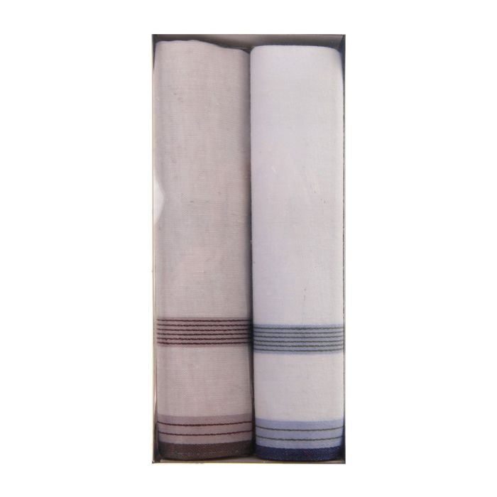 Набор муж. платки Жаккард 45*45 см - 2 шт., 100% хлопок