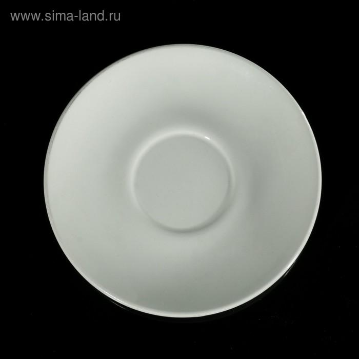 Блюдце чайное d=14,7 см, цвет белый