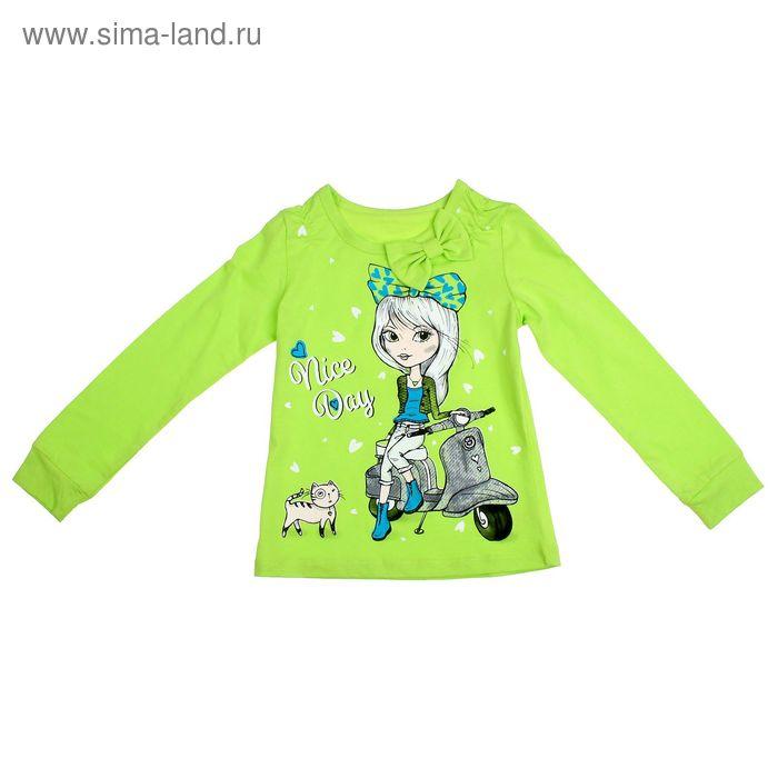 Блузка для девочки, рост 116 см, цвет лайм (арт. Л539_Д)