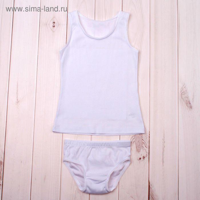 Комплект для девочки (майка, трусы), рост 110 см, цвет белый (арт. К340_Д)