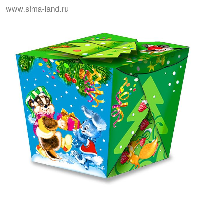 "Подарочная коробка ""Елочка-Иголочка"", сборная, 10 х 10,5 х 10,5 см"