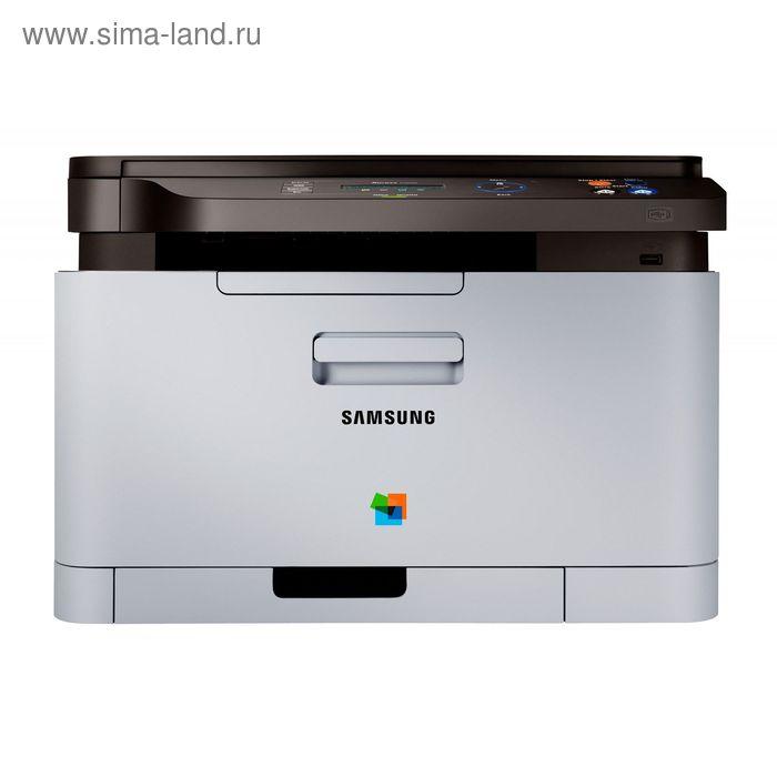 МФУ, лазерная цветная печать Samsung SL-C480W, А4, WiFi