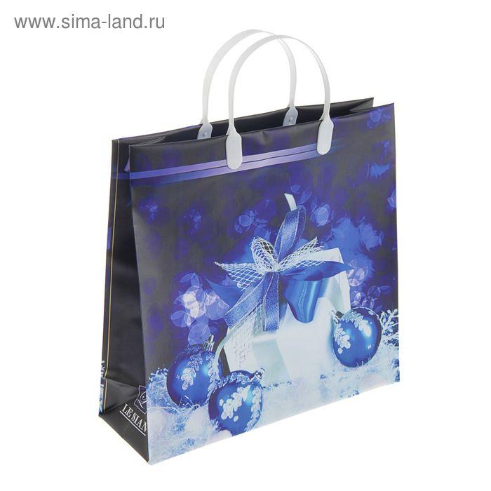 """Пакет """"Синие шарики, подарки"""", мягкий пластик, 30 х 30 см, 140 мкм"""