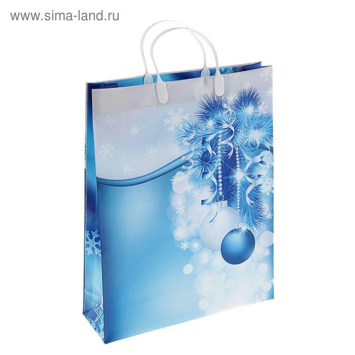 "Пакет ""Праздничные завитушки"", мягкий пластик, 42 х 32 см, 140 мкм"