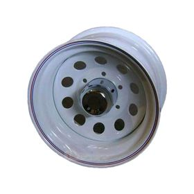 Диск штампованный Ningbo А08 10x16 6x139,7 ET -40 d110,1 белый (с колпаком)