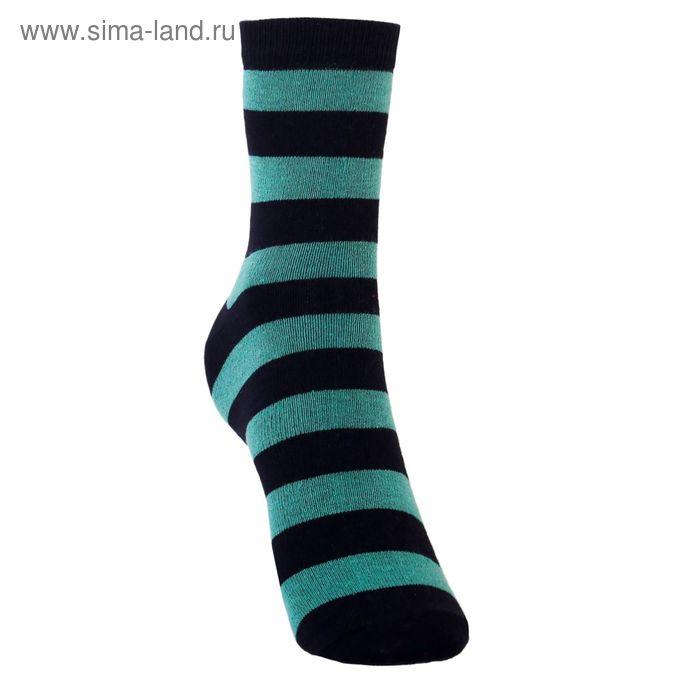Носки детские 3с13, размер  16(14-16), цвет зеленый/черный