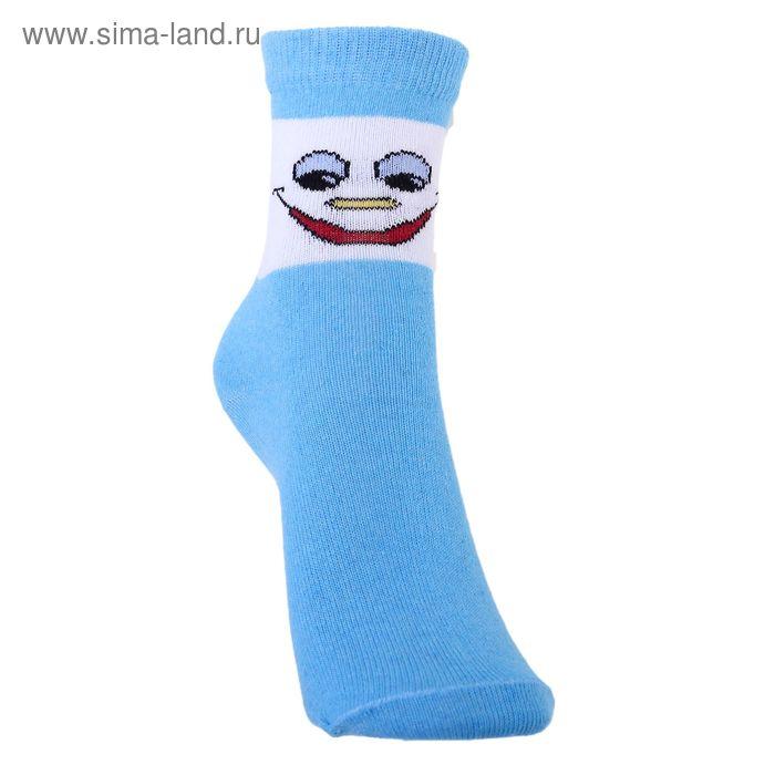 Носки детские 3с14, размер  16(14-16), цвет бело-голубой