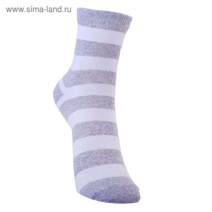 Носки детские 3с13, размер  20(18-20), цвет белый/серый