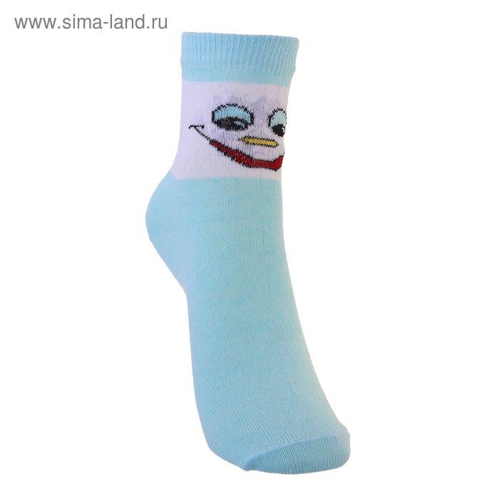 Носки детские 3с14, размер  18(16-18), цвет белый/бирюзовый