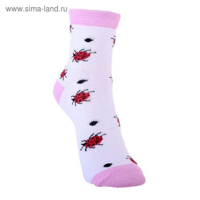 Носки детские 3с12, размер  16(14-16), цвет бело-розовый