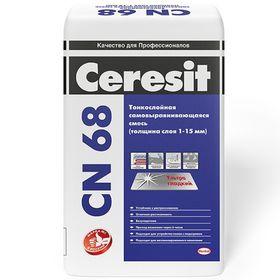 Тонкослойная самовыравнивающаяся смесь Ceresit CN 68 (толщина 1-15 мм), 25 кг