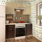 Кухонный гарнитур, 1600 мм, цвет Дуб седой/Дуб шоколадный