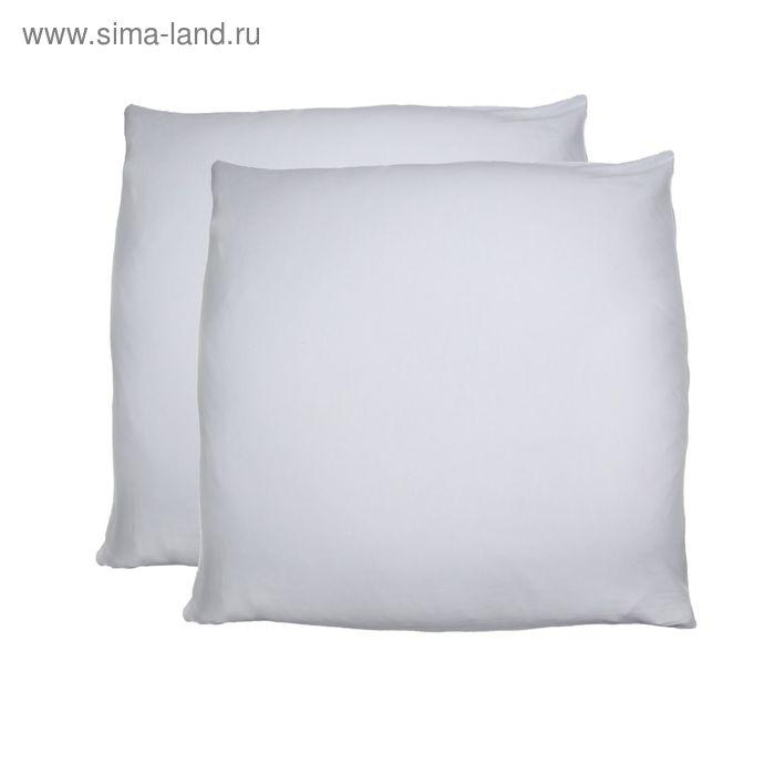 Наволочки трикотажные на молнии, размер 50х70 см-2 шт., цвет белый