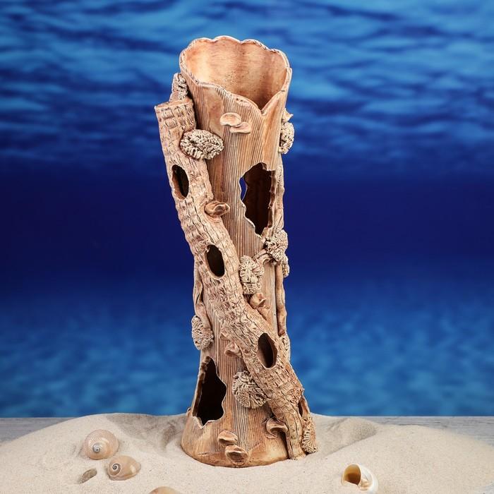 """Декорация для аквариума """"Коряга"""", 10,5 х 13 х 33 см, микс"""