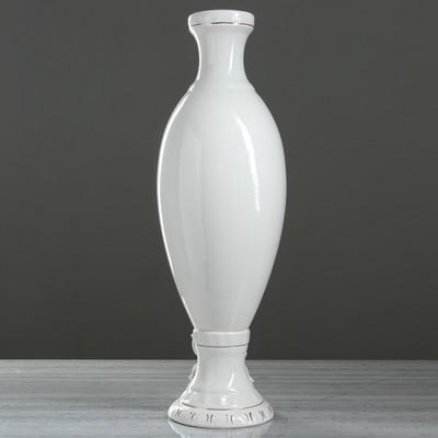 """Ваза напольная """"Афродита"""", белая лепка, 71 см, микс"""