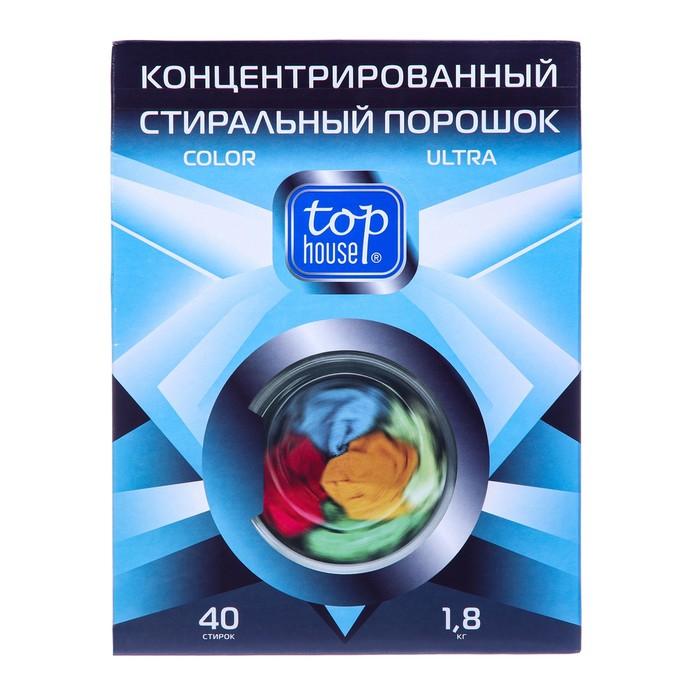 Концентрированный стиральный порошок Top House Color Ultra для цветного белья, 1,8 кг