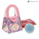 Подарочный набор в сумочке «Самой очаровательной»: соль для ванн (роза), бурлящий шар (лаванда)