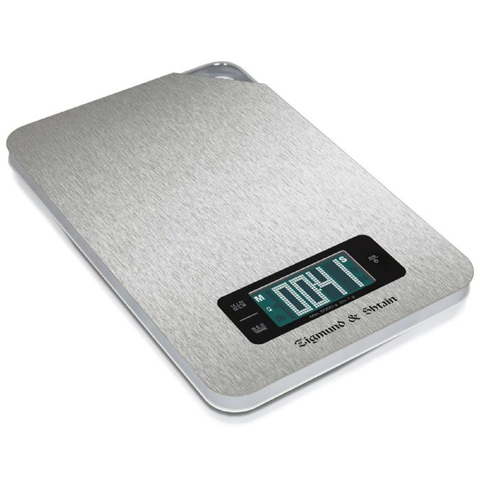 Весы кухонные Zigmund and Shtain DS-25 TSS, электронные, до 5 кг, серебристый